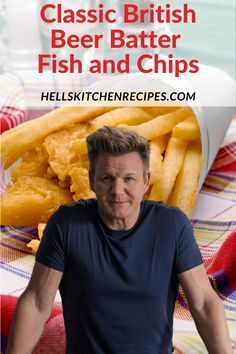 Gordon Ramsay Fish and Chips - Gordon Ramsay Fish and Chips Recipe is a complete traditional English meal. The fish is coated with - English Fish And Chips, British Fish And Chips, Best Fish And Chips, Fish And Chips Batter, Fish Batter Recipe, Chip Shop Batter Recipe, Beer Batter For Fish, Best Fish Batter, Dinner Ideas