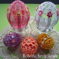 Crochet Pants, Easter Crochet, Easter Eggs, Christmas Bulbs, Decoration, Goodies, Holiday Decor, Diy And Crafts, Easter