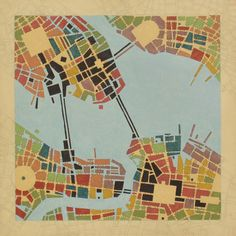 Federico Cortese   Codes   Imaginary Maps of Nonexistent Cities {Not fond of his colors, but love imaginary maps}