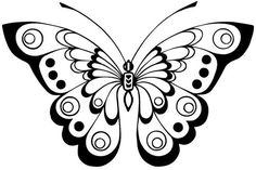 18 butterfly designs to embroider or draw, Butterfly Pattern, Butterfly Art, Butterflies, Butterfly Stencil, Butterfly Template, Butterfly Design, Coloring Book Pages, Coloring Sheets, Stencil Patterns