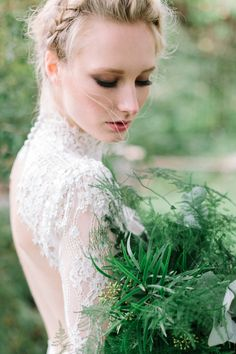 Botanical bridal shoot in Tuorla, Finland. Follow the link to see the article & creative team. Photo: willowvisuals.com Bridal Session, Bridal Shoot, Norwegian Wedding, Flower Girl Dresses, Graphic Design, Wedding Dresses, Finland, Creative, Illustration