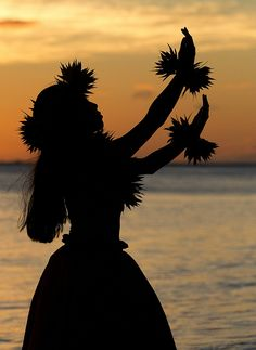 Sunset Hula, Lahaina, Maui... Not the Island of Hawaii, but such a great photo in spirit.