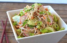Sage Recipes | Soba Noodle Salad with Miso Dressing | http://www.sagerecipes.com