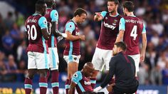 West Ham record signing Andre Ayew will not undergo surgery on the thigh injury he sustained in the opening day defeat at Chelsea. Sign Out, New Sign, Chelsea Football Team, Antonio Conte, Stamford Bridge, West Ham, Bbc, Thighs