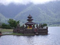 Temple at Lake Batur, Bali.