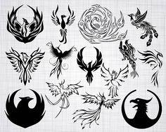 Let your nails look great with nail art. Phoenix Tattoo Feminine, Tribal Phoenix Tattoo, Small Phoenix Tattoos, Phoenix Tattoo Design, Tribal Tattoos, Body Art Tattoos, Small Tattoos, Crow Tattoos, Ear Tattoos