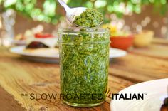 The Slow Roasted Italian: Fresh Basil Pesto features the fresh flavors of basil, toasted pine nuts, garlic, olive oil & Parmesan!
