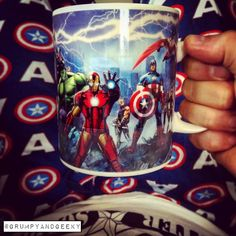 Just sitting here & geeking out with my new mug I ordered from @forbiddenplanetdotcom  love a heat changing mug & when it cools down the words MARVEL appear across it awesome stuff! Anyway hope y'all have a great day.  I'm going to go back to day dreaming & geeking out.  I mean why not it's the weekend after all!!  #marvel #marvelcomics #grumpyandgeeky #captainamerica #ironman #antman #blackpanther #spiderman #teamcap #teamironman #chrisevans #robertdowneyjr #geek #geeks #geeky #geeklife…