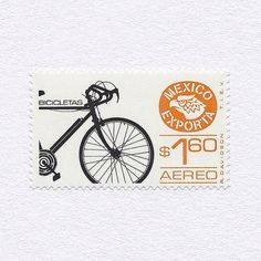 Exports: Bicycles ($1.60). Mexico, 1975-1982 (The Ground Issue). Design: Rafael Davidson. #mnh #graphilately