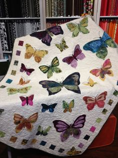 Madame Butterfly (quilt kit) designed by Maria Roder www.theclothshop.com