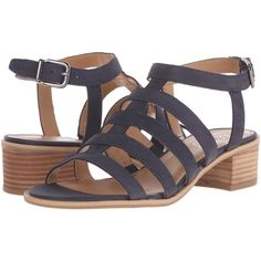Franco Sarto Orielle Women's Sandals (1923290 BYR) ❤ liked on Polyvore featuring shoes, sandals, platform shoes, chunky heel platform sandals, ankle tie sandals, franco sarto shoes and leather platform sandals