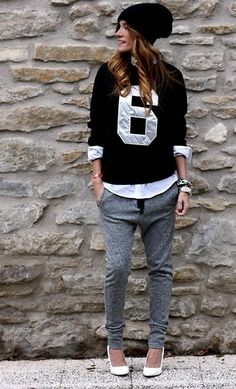 Choies Sweatshirt, Zara Pants