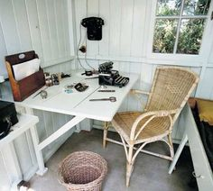 """Famous Writers' Small Writing Sheds and Off-the-Grid Huts - George Bernard Shaw's writing hut, dubbed """"London"""" so his staff wouldn't be lying when they said he had """"gone to London."""""""