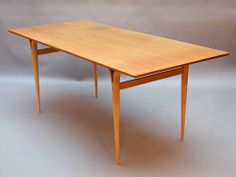 Dining / working table by Bruno Mathsson for Karl Mathsson 1967 Price: SOLD Size: 180 x 80 x 72 cm