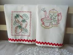 hand embroidered towels - Google Search