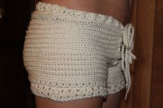 Popular crochet shorts with drawstring by StringsnThingsCrafts, $40.00