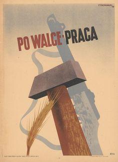 Polskie plakaty z lat 40., 50. i 60. w Muzeum Sztuki Nowoczesnej - zdjęcie nr 4 Concrete Texture, Retro Posters, Movie Posters, Poland, Vintage Photos, Graphic Art, Postcards, Kiss, Universe