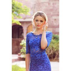 Vestido Festa Sereia Azul Royal Casamento, Formatura G Grife velasco