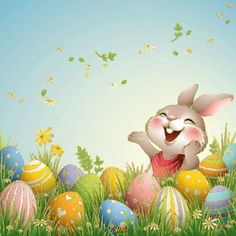 Easter Bunny Pictures, Cute Easter Bunny, Easter Art, Hoppy Easter, Easter Crafts, Easter Eggs, Ostern Wallpaper, Happy Easter Messages, Easter Illustration