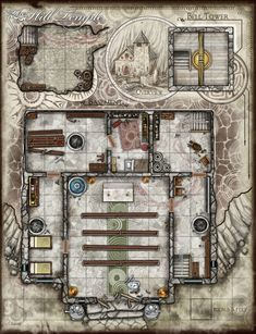Epic Cartography: The Frozen Mansion For this map i was thinking that some rich lord or wizard who dabbled to much in sorcery has unleashed…