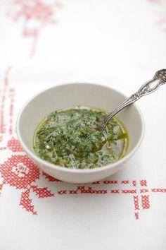 mixed herb salsa verde | Jamie Oliver | Food | Jamie Oliver (UK) Visit: http://explodingtastebuds.com/