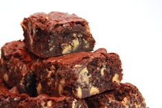 Brown butter brownies with peanut butter chips