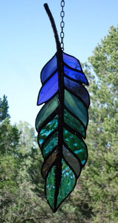 stained glass window panel  GHOST DANCE by ZuniMountainArtGlass