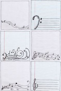 Music doodled papers from Jacque Larsen