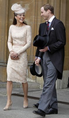 Catherine, Duchess of Cambridge and Prince William, Duke of Cambridge leave Westminster Hall after a Diamond Jubilee Luncheon