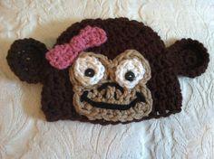 Monkey crochet hat on Etsy.com