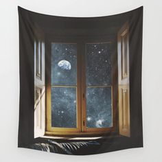 There is something so beautiful and romantic about this tapestry. Lying next to your loved one, staring out the window at the stunning night sky. This would make a lovely gift.