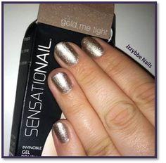 #Sensationail Gel Polish in #GoldMeTight it's so sparkly :)