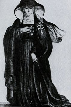 Nuns in the St. John's Hospital in Jerusalem during the Crusades distinguished themselves as nurses with the cross on their sleeve.