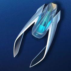 Volkswagen Seaero Ocean Mobility Design -You can find Yacht design and more on our website. Spaceship Art, Spaceship Design, Yacht Design, Boat Design, Design Design, Futuristic Cars, Futuristic Design, Volkswagen, Design Transport