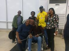 Photo: Ailing veteran broadcaster/actor Sadiq Dabiq leaves Nigeria for UK to receive treatment