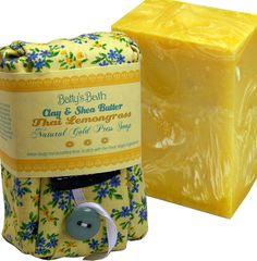 Thai Lemongrass Soap Bar - 100% Natural Cold Press Soap with Clay & Shea Butter by BattysBath