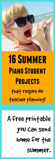All you need to do is print out this free sheet, send it home, and ask your piano kids to complete all 16 piano challenge tasks before the summer is over.  If you are teaching during the summer, this is a project that can continue on in the background. If you take a break in the summer, this is something that can keep your students engaged in music during their time away from lessons.  #BammoPlanningDone #KeepThemOnTheBench #NoSummerSlump #CoolFunPianoActivities
