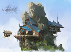 Teng Xian Attic - demo design by lok du on ArtStation.