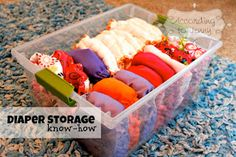 Cloth Diaper Storage Tips