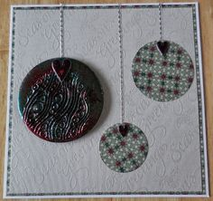 Christmas card made using Melt Pot and UTEE