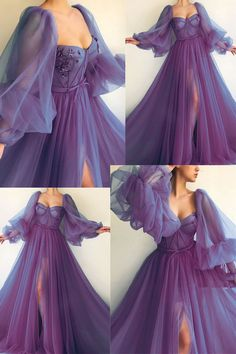 Pretty Prom Dresses, Prom Dresses With Sleeves, Gala Dresses, Tulle Prom Dress, Elegant Dresses, Homecoming Dresses, Hoco Dresses, Prom Dress Long, Short Tulle Dress