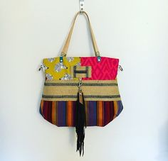 Fringe Tote by jalmodovar on Etsy