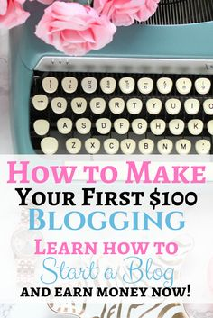 Ready to start a blog and make your first $100?! Here's how to do that!