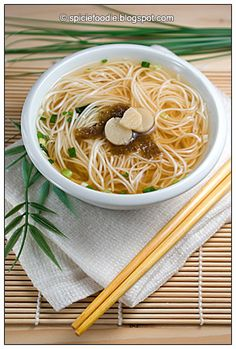 """Somen Miso Noodle Soup 