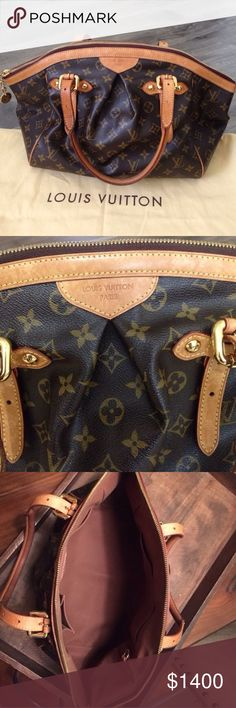 💯 Authentic Louis Vuitton Tivoli GM Handbag purse 💯 Authentic Louis Vuitton Tivoli GM (larger one) Purse, gently used condition. Slight handle discoloration/ wear from use, but nothing major. Clean, no stains/ spots on interior. Small grayish spot on lower left of bag. Super gorgeous handbag! Hurry before I change my mind!!!! Comes with dust bag and base shaper. Louis Vuitton Bags Hobos