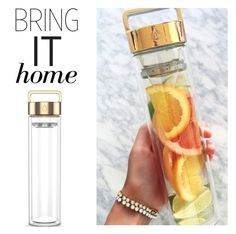 """Bring It Home: Rose Gold Drop Bottle 500ML"" by polyvore-editorial ❤ liked on Polyvore featuring interior, interiors, interior design, home, home decor, interior decorating and bringithome"
