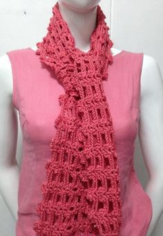 Easy Crochet Scarf By Girlie's Crochet - Free Crochet Pattern - (girliescrochet)