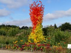 Chihuly Glass at the Meijer Gardens exhibition in Grand Rapids Michigan.    Seeing this in person is a great experience. Truly intricate!  #myhometownpins