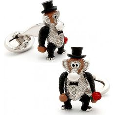 Black Tie Monkey Cufflinks