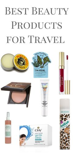 The Absolute Must have Beauty Products when you are traveling!